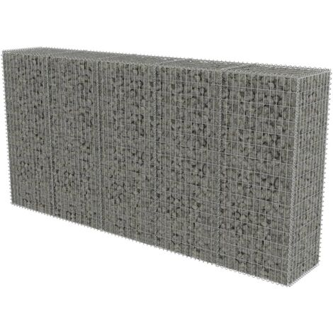 Gabion Wall with Covers Galvanised Steel 300x50x150 cm
