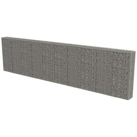 Gabion Wall with Covers Galvanised Steel 600x30x150 cm