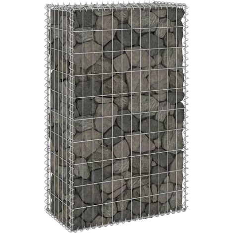 Gabion Wall with Covers Galvanised Steel 60x30x100 cm