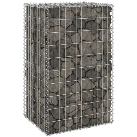 Gabion Wall with Covers Galvanised Steel 60x50x100 cm