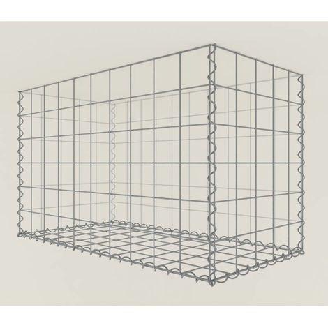 Gabione begrünt 165-3 - 100 x 60 x 50 cm