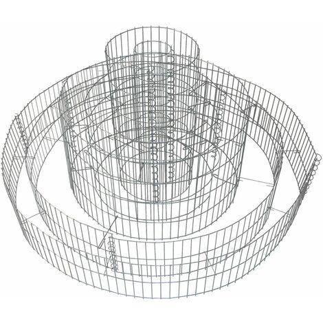 Gabione Kräuterspirale Kräuterbeet Hochbeet Steinkorb 3-fach-ring Pflanzbeet