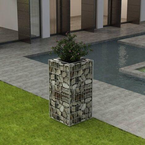 Gabionen-Hochbeet Stahl 50×50×100 cm
