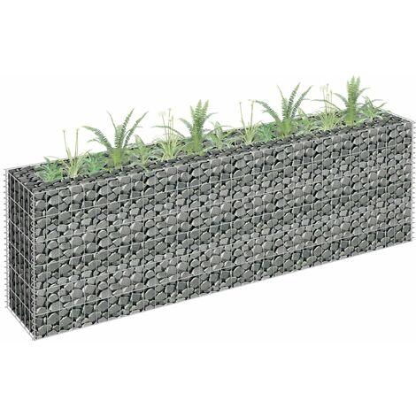 Gabionen-Hochbeet Verzinkter Stahl 180×30×60 cm
