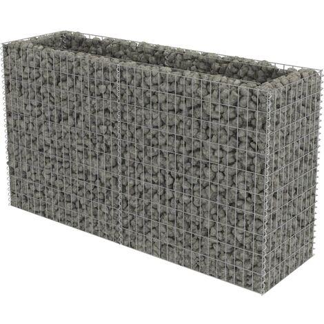 Gabionen-Hochbeet Verzinkter Stahl 180×50×100 cm