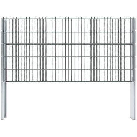 Gabionenzaun Stahl Verzinkt 2,008x1,03 m Gesamtlänge 2 m Grau