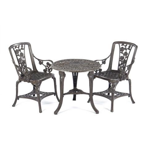 Gablemere 3 Piece Rose Arm Chair Patio Set