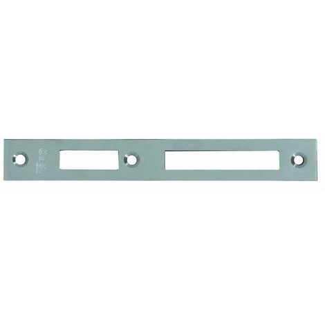 Gâche centrale Inox 180x24x3 mm ISEO pour serrure Performa - 038230
