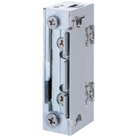 gâche électrique à larder étanche profil étroit sans découpe à émission et contact stationnaire 10/24 vcc