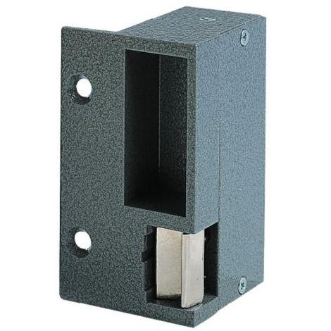 Gâche électrique aluminium en applique type 90 pour serrure horizontale, 12 Volts à rupture, droite