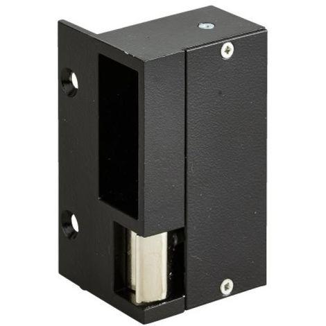 Gâche électrique en applique droite tirante - aluminium pour serrures horizontales