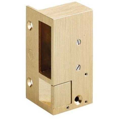 Gâche électrique en applique gauche pour serrures horizontales n°2, hauteur 98 mm - à rupture
