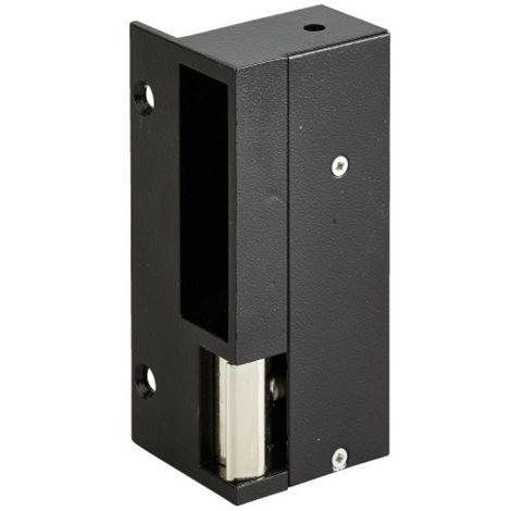 Gâche électrique en applique pour serrure verticale, à contact stationnaire, aluminium, droite