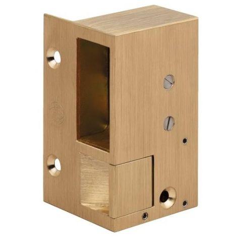 Gâche électriques en applique - bronze pour serrures horizontales n°1, hauteur 88 mm main gauche