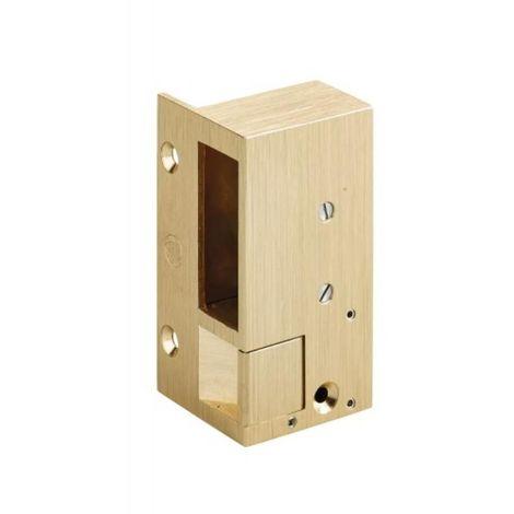 Gâche électriques en applique - bronze pour serrures horizontales n°2, hauteur 98 mm main gauche