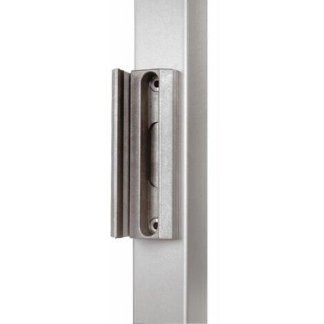 Gâche pour serrure de portail LAKQ 40, profil carré à partir de 40 mm, coloris aluminium