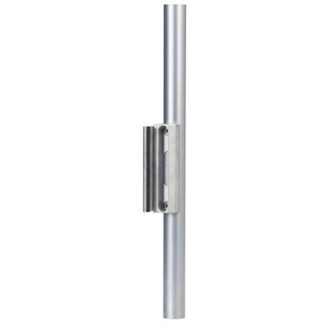 Gâche pour serrure de portail LAKQ 40, profil rond à partir de Ø 40 mm, coloris aluminium