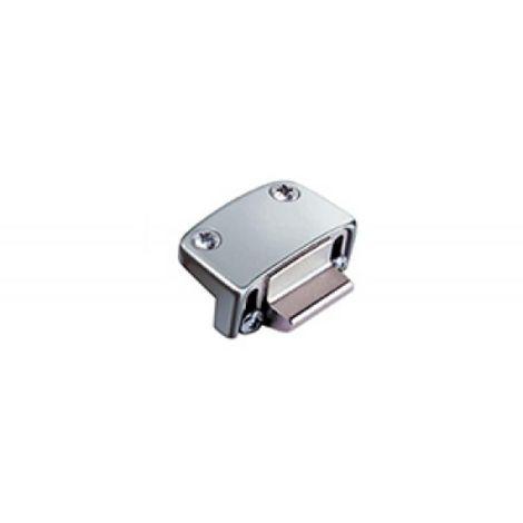 Gâche PVC Oltre 2 vantaux 16/24 mm gris 9006