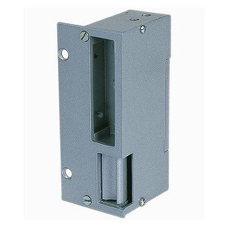 Gâches applique électrique réversible GARVI12 en aluminium - Verticale - 120mm - 12V AC/DC - Non symétrique - Rupture