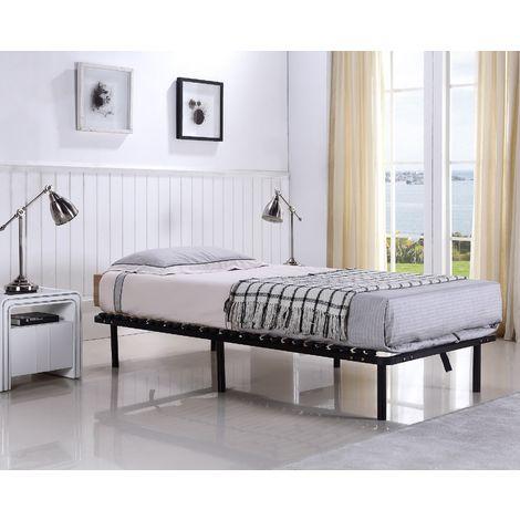 g stebett futonbett bett mit lattenrost auf f en und. Black Bedroom Furniture Sets. Home Design Ideas