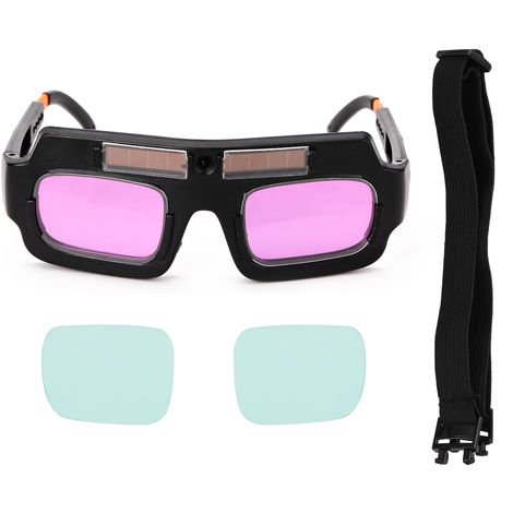 Gafas de seguridad de soldadura con oscurecimiento automatico de energia solar
