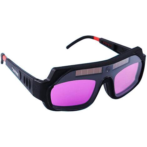 Gafas de soldadura electrica de luz variable automatica, gafas protectoras de luz fuerte y ultravioleta para soldador