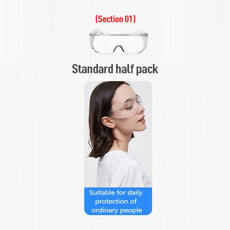 Gafas protectoras, antisalpicaduras, antipolvo, antiviento,Estandar semicerrado