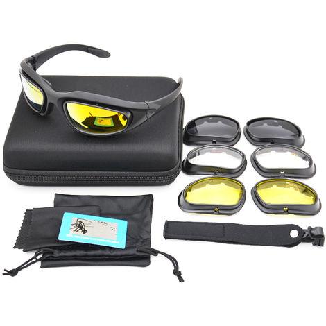 Gafas tacticas UV400 polarizadas, gafas de tiro C5, negro