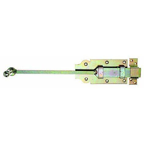 Gah-Alberts 123154 Verrou targette de porte avec bouton et passant fixé 160mm