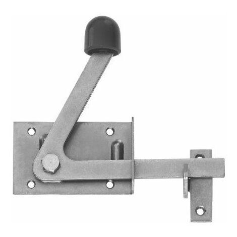 Gah-Alberts 210397 Verrou de portillon spécial pour montants de cadre en bois étroits, surface galvanisée bichromatée