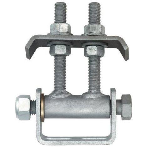 Gah-Alberts 411350 Penture de portail à souder pour ouverture de 180°, ajustable sur plusieurs niveaux, surface galvanisée à chaud, M16, charge max. 300 kg