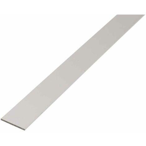 GAH Flachstange | Alu oder Edelstahl Flachmaterial | blank, Kunststoff, silberfarben eloxiert