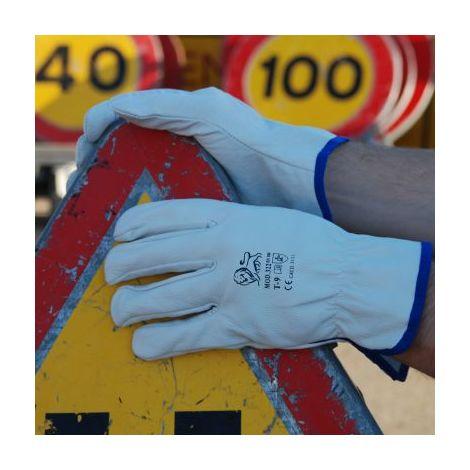 GAHIBRE - Lote 3 guante piel vacuno