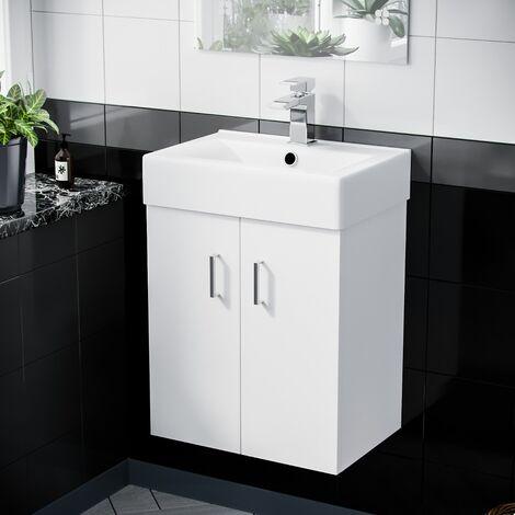 "main image of ""Gaidor 450mm White Gloss Wall HungBasin Vanity Unit"""