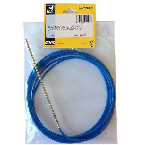 Gaine alu/inox téflon Mig/Mag pour fil de Ø 0,6 et 0,8 mm, longueur 3 m