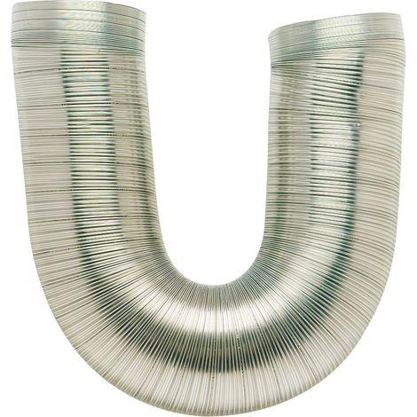 Gaine aluminium flexible extensible classe MO DMO - Longueur de 0,45 à 1,5 m - Diamètre intérieur 105 mm