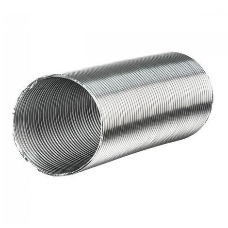Gaine aluminium semi-rigide - 200mm x 3 mètres ventilation