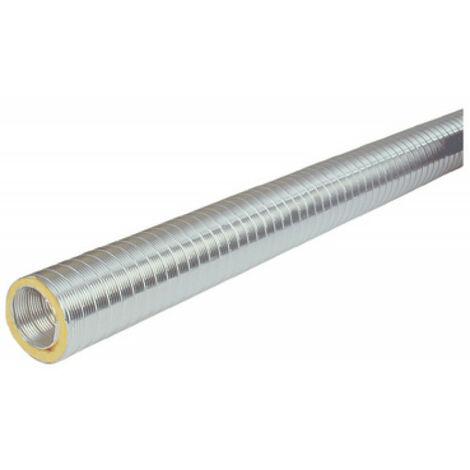 Gaine aluminium semi rigide calorifuge et isolée phoniquement Ø 160mm, longueur 2m