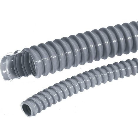 Gaine annelée LAPP SILVYN® EL 22x27,7 SGY 61747390-10 gris-argent (RAL 7001) 22 mm 10 m X74922
