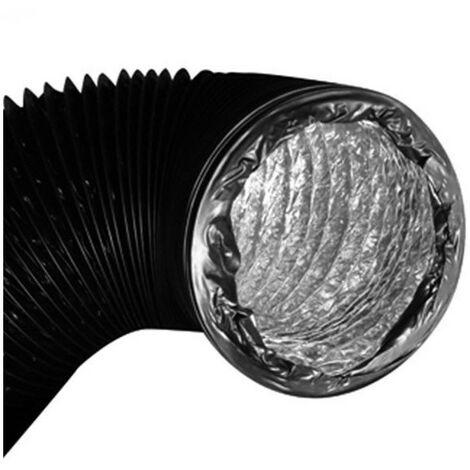 Gaine combi doublée alu/pvc - 200mmx 10m conduit de ventilation
