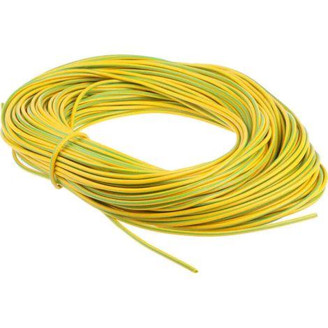 Gaine de câble, RS PRO, Diam 2mm, en PVC Vert/Jaune, 50m