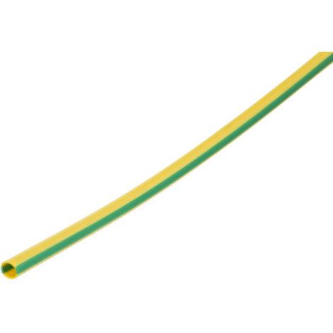 Gaine de câble, RS PRO, Diam 3mm, en PVC Vert/Jaune, 40m