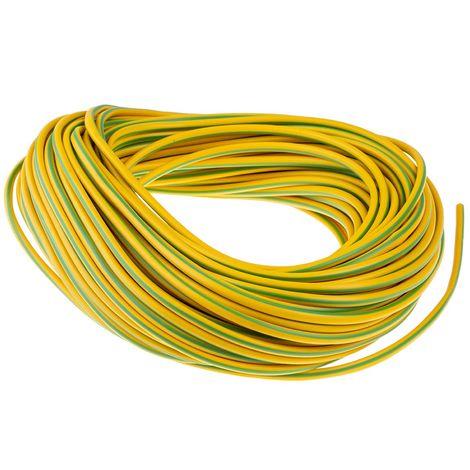 Gaine de câble, RS PRO, Diam 4mm, en PVC Vert/Jaune, 30m