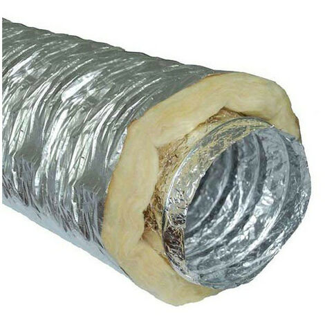 Gaine insonorisée à la laine de roche - 127mm x 10m conduit de ventilation