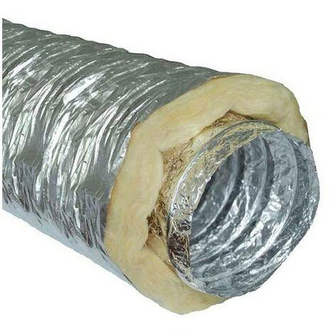 Gaine insonorisée à la laine de roche - 160mm x 10m conduit de ventilation
