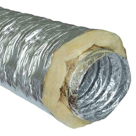 Gaine insonorisée à la laine de roche - 406mm x 10m - conduit de ventilation
