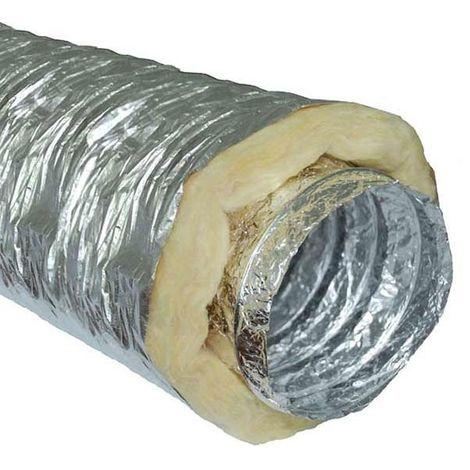 Gaine insonorisée à la laine de roche - 456mm x 10m - conduit de ventilation