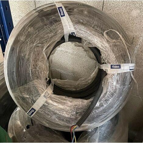 Gaine préfilée noire Ø 20mm avec 3x2.5mm² B-R-V/J +1.5mm² noir (couronne de 100m) fil HO7VU PREFILCO COURANT 20020024
