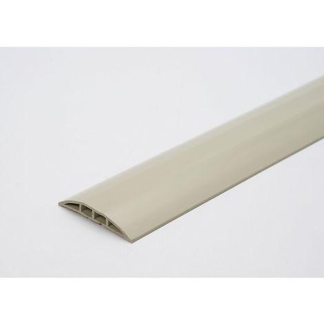 Gaine protège-câbles en plastique, pour tuyaux de Ø max. 7,5 mm noir-jaune, 2 passages, longueur 3 m