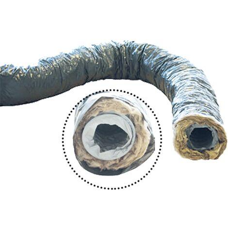 Gaine PVC isolée 50 mm Ecosoft Unelvent 6 Métres diamètre 80 mm